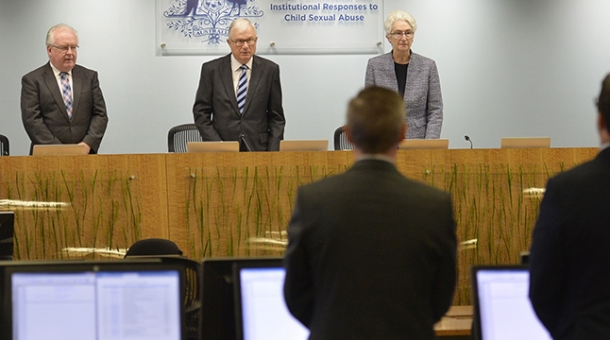 From left to right: Commissioner Robert Fitzgerald AM, The Hon.  Justice Peter McClellan AM and Justice Jennifer Coate