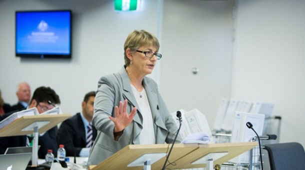 Counsel Assisting, Gail Furness SC speaking in a court room