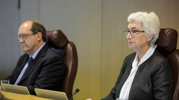 From left to right: Commissioner Andrew Murray and Justice Jennifer Coate