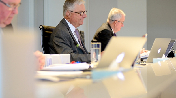 From left to right: Commissioner Robert Fitzgerald AM, The Hon. Peter McClellan AM and Commissioner Bob Atkinson