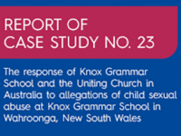 Report into Knox Grammar School and the Uniting Church released
