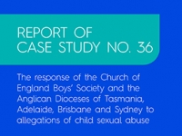 Report into Church of England Boys' Society and the Anglican Dioceses of Tasmania, Adelaide, Brisbane and Sydney released