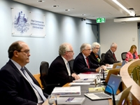 Commissioners at Royal Commission public hearing