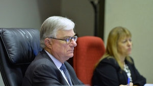 From left to right: The Hon. Justice Peter McClellan AM and Commissioner Helen Milroy
