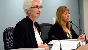 From left to right: Justice Jennifer Coate and Commissioner Helen Milroy